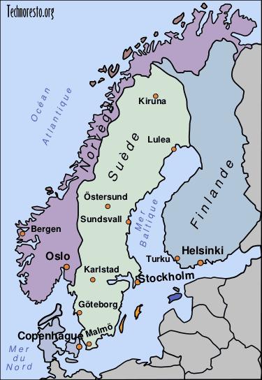 carte de paye scandinave - Image