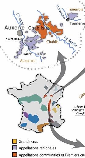 Carte Bourgogne Viticole.Les Vins De Bourgogne