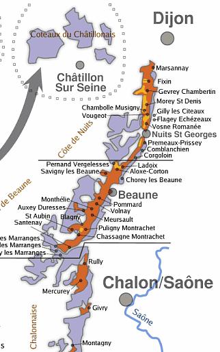 Carte Vin Bourgogne Blanc.Les Vins De Bourgogne