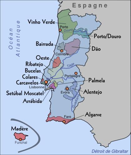 """Résultat de recherche d'images pour """"carte du vignoble portugal"""""""